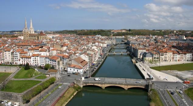 Bayonne ponts vue du ciel